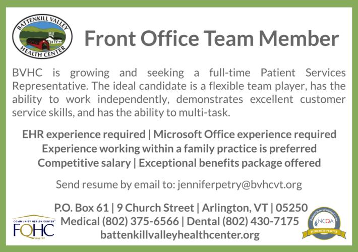 front office team member 002 battenkill valley health